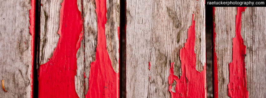 Red peeling paint free facebook banner download