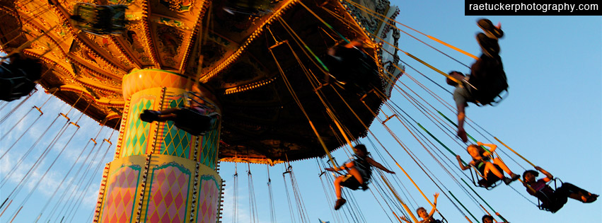 Amusement Park Swings Free Facebook Banner Download