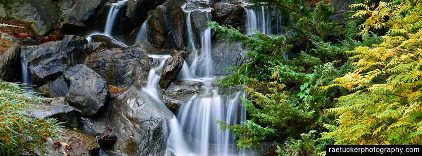 Waterfall free facebook banner