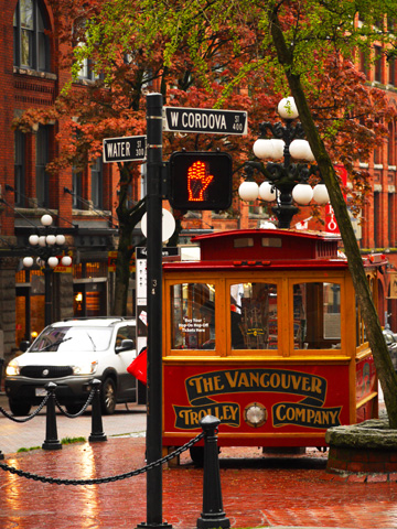The Vancouver Trolley Company in Gastown in Vancouver, BC, Canada